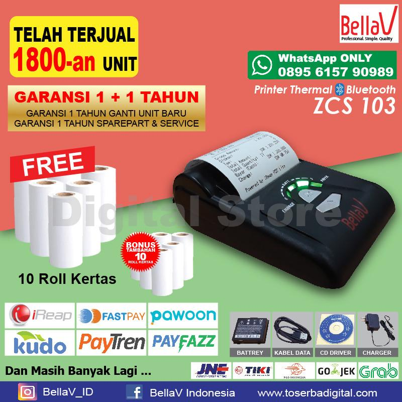 Spesifikasi Printer Bluetooth Thermal Bellav Zcs 103 Support Paytren I Reap Pos Dll Murah Berkualitas