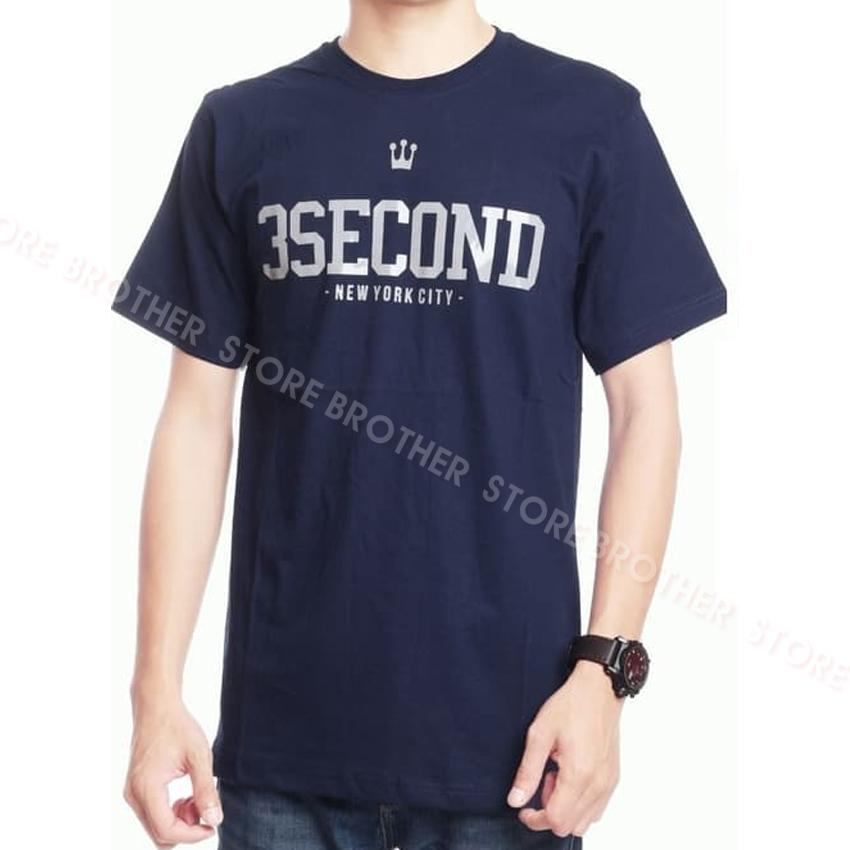 Kaos Distro 3second New York Silver - Nevy Premium