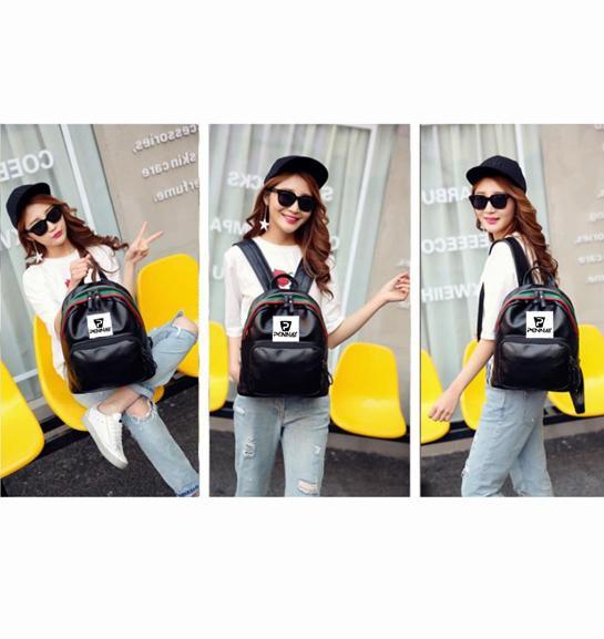 Detail Gambar Dream Tas Ransel Wanita - Backpack Young Ladies Pennay Hitam + Free Sepatu Campare