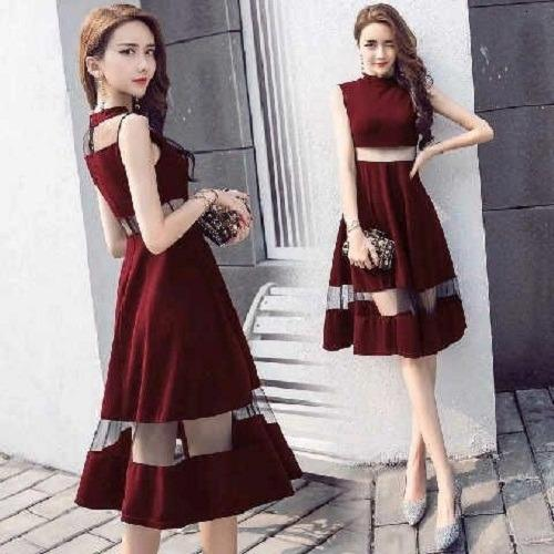 Popuri Fashion Dress Youlanda - Wedges Kombi Tile Baju Wanita Baju Dress Wanita Murah Kekinian Terbaru Gaun Pakaian Gaun Dress Wanita Dresss Gaun Dress Wanita Dres