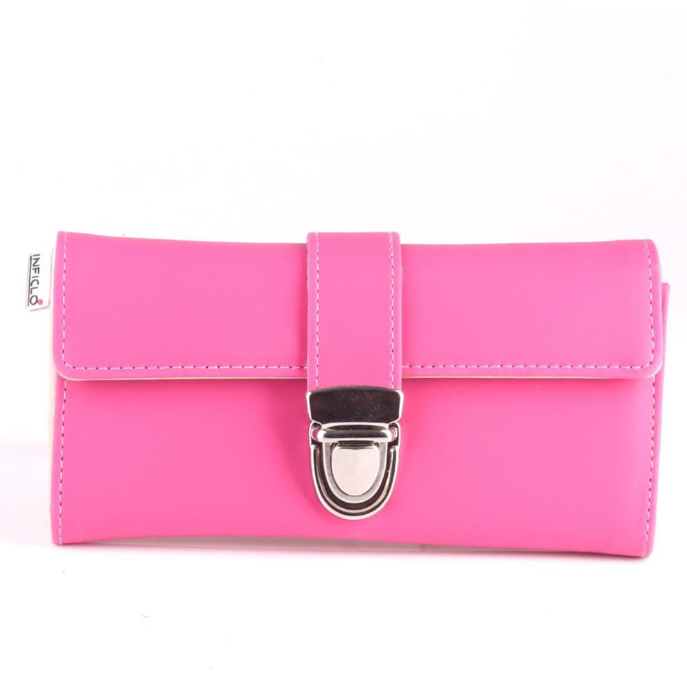 Dompet Wanita warna Shocking Pink Simple Kece / SPT 123