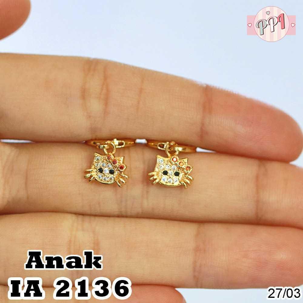 Anting Hello Kitty Lapis Emas A 2136 Anak