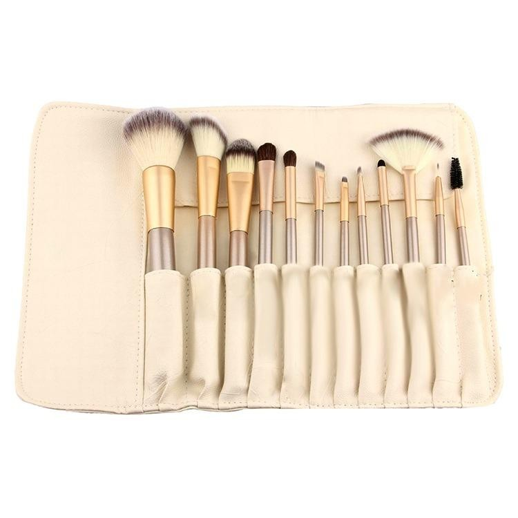 Spesifikasi Marlow Jean Kuas Make Up Set 12 Pcs Brush Make Up Set Bulu Halus Tidak Rontok Beauty Face Brush Blush On Brush Alis Brush Foundation Brush Contouring Champagne Gold Baru