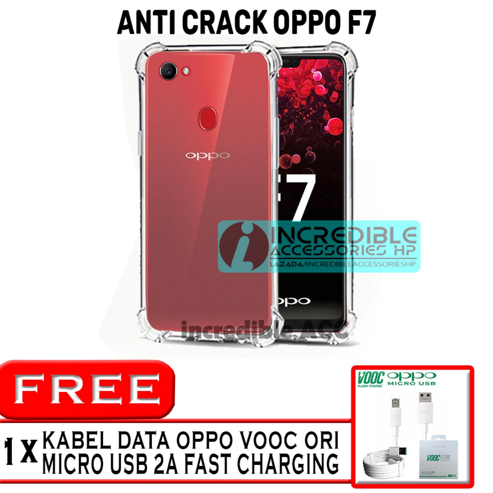 Fuze Anti Crack Case Oppo F1 S A59 Putih Fitur F7 Premium Softcase Jelly White Clear Free Kabel Data