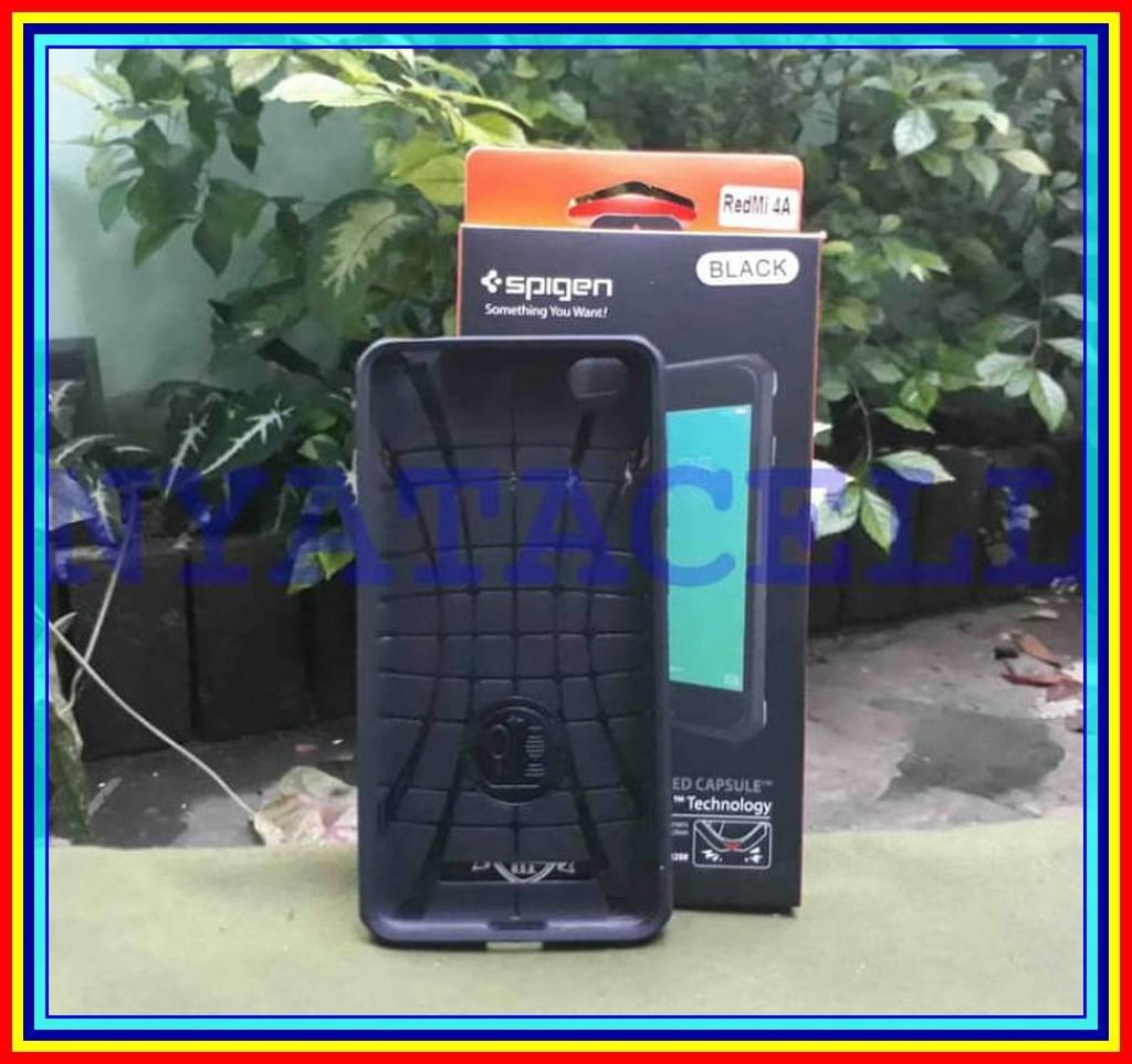 Spigen Capsule XIAOMI Redmi 4A Soft Case Rugged Armor Carbon - Hitam -