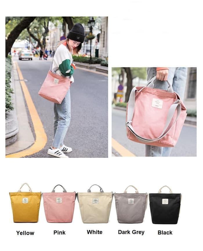 Korean Style Canvas Sling Bag - 3 .