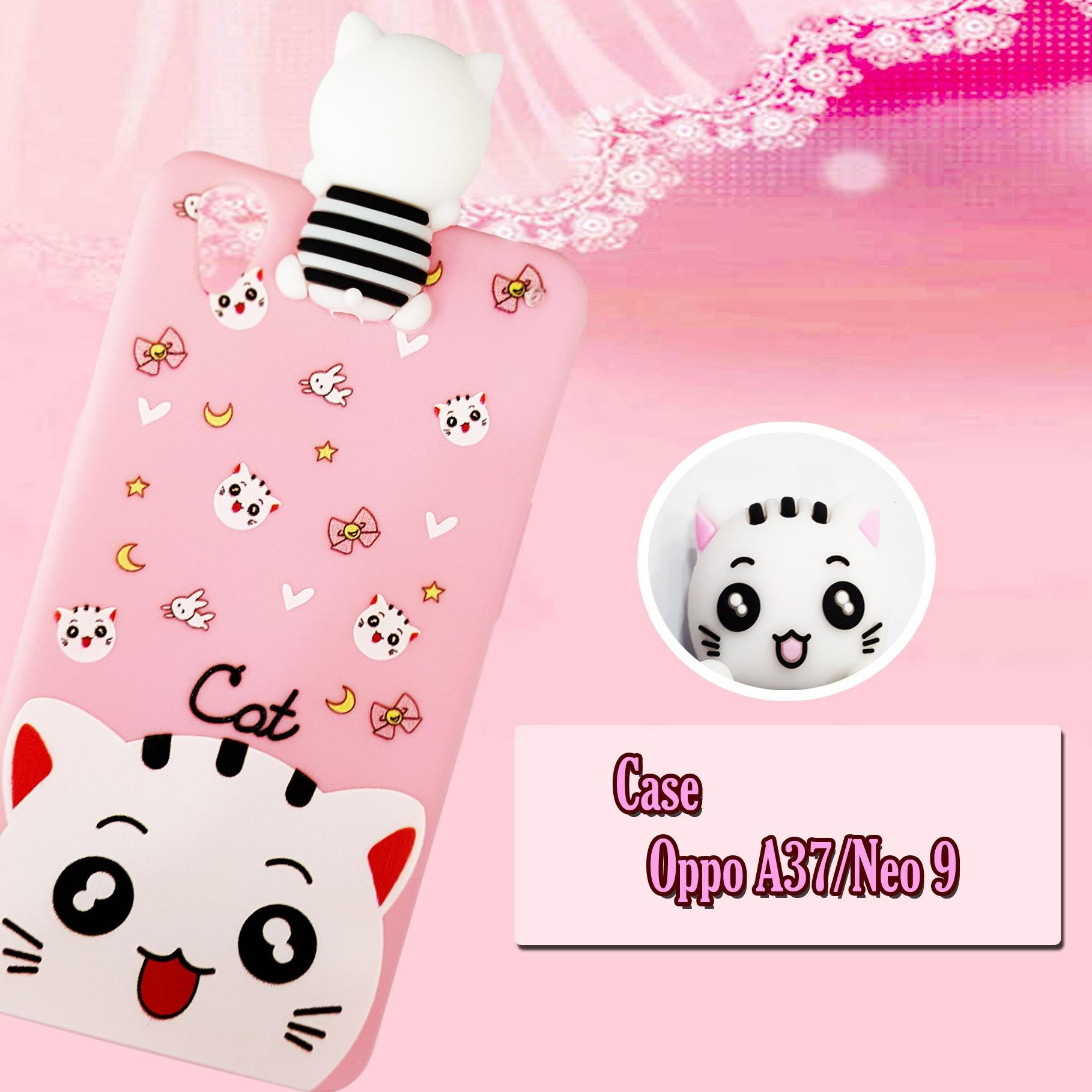 Softcase Cat Pinky New For Oppo A37