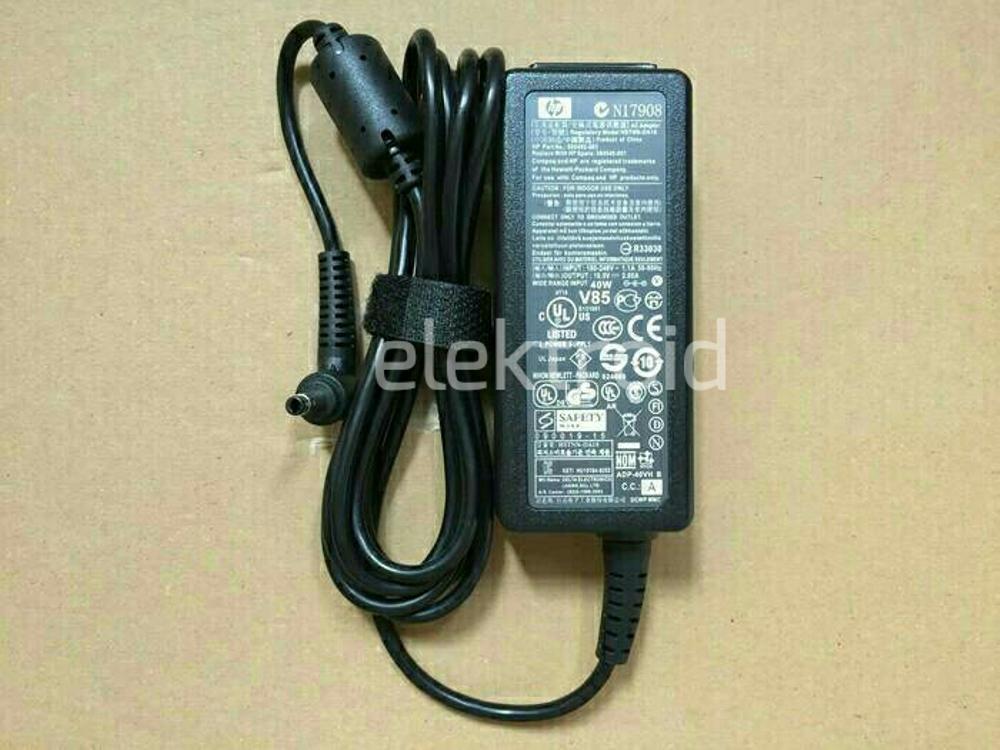 Adaptor HP Mini 110-1000 110-3000 110-1001 110-1100 210-1000 210-2000 19.5V-2.05A  Original di lapak elektroid elektroid