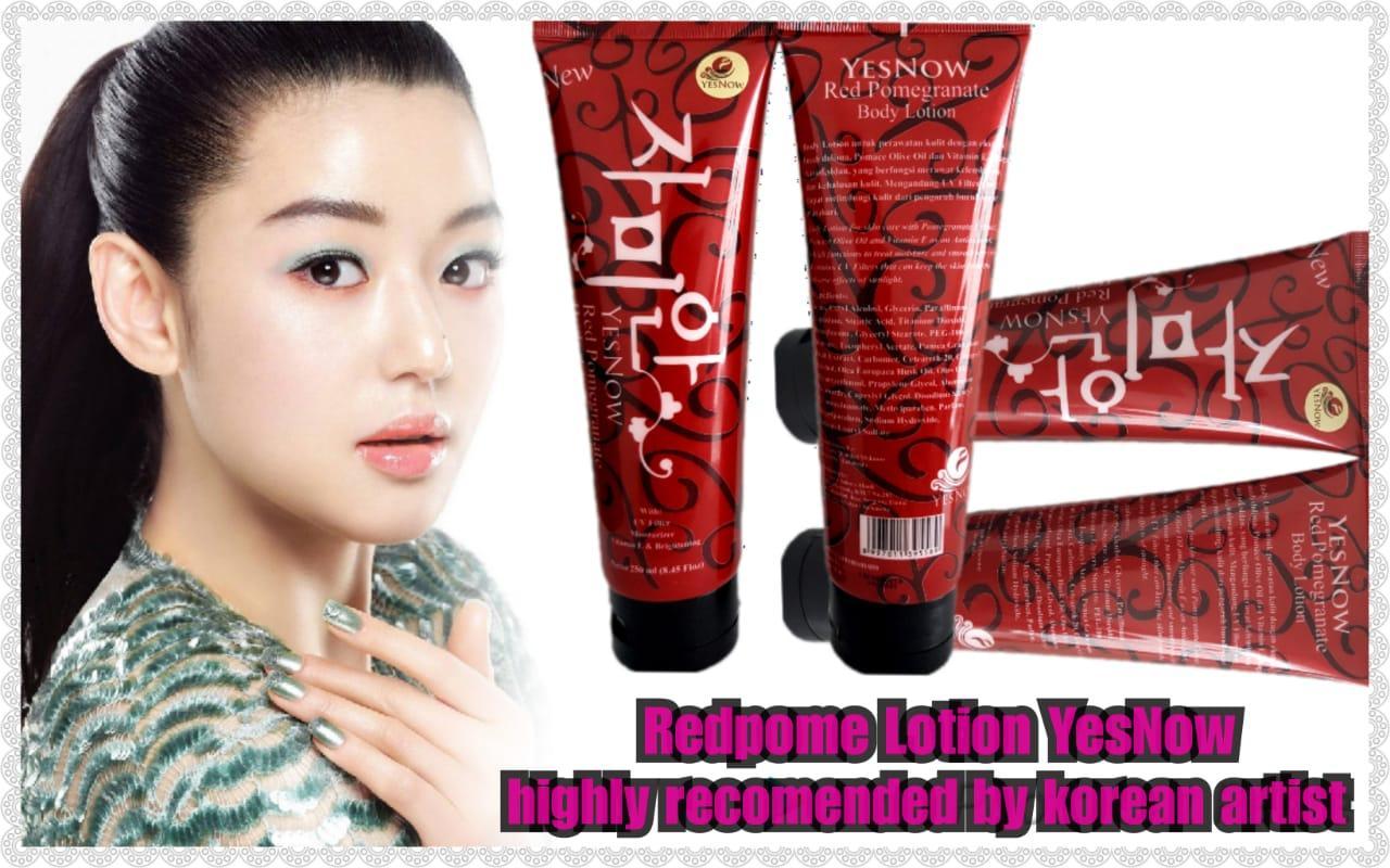 ... Red Pome ORIGINAL Yesnow Lotion Hand & Body Pemutih Tubuh Shining SPF 50++ -