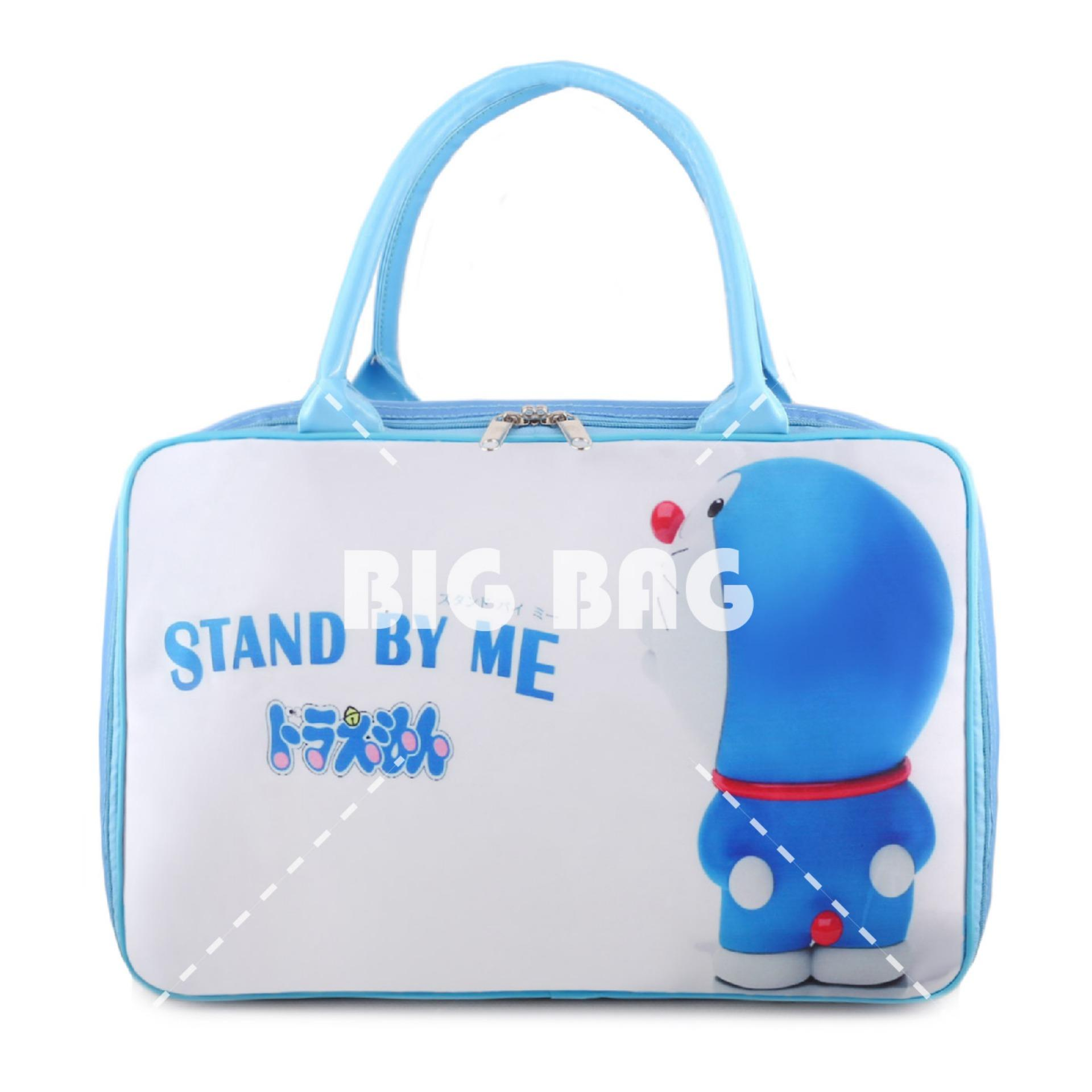 Beli Tas Anak Fashion Travel Bag Doraemon Lonely White Blue Tas Travel Tas Anak Karakter Online Terpercaya