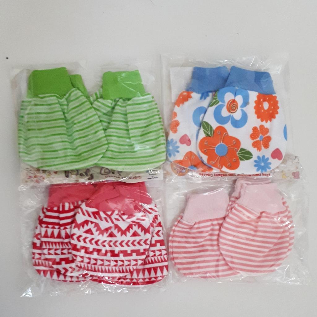 Kelebihan 4set Sarung Tangan Kaos Kaki Bayi Motif 11 Terkini Libby Dan Polos Newborn New Born 15