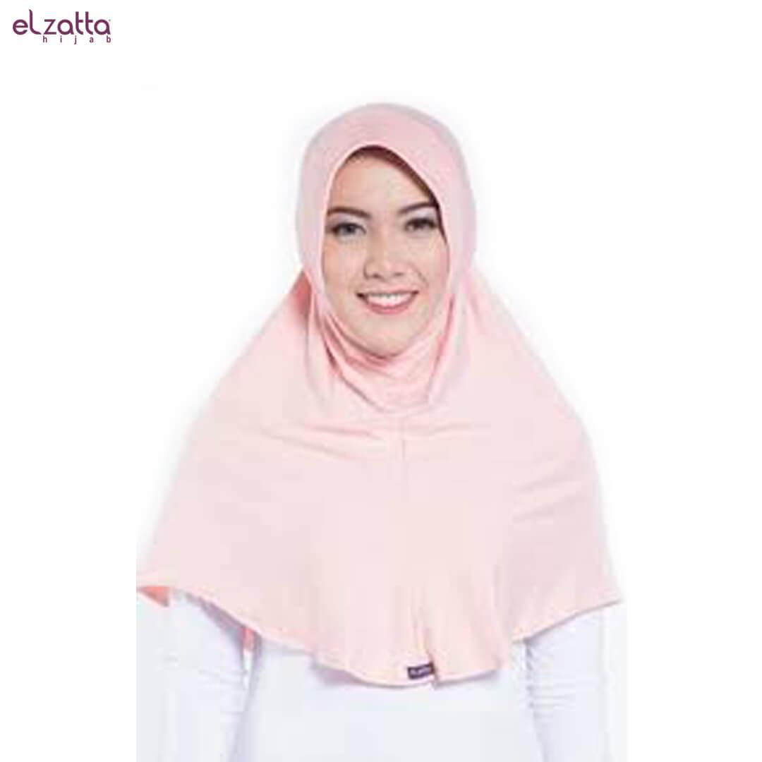 Elzatta Hijab Atau Hijab Atau Hijab Instan Atau Bergo Atau Elzatta Basic - E002 PEACH