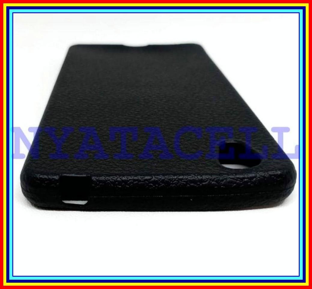 Detail Gambar Softcase Matte Kulit Vivo Y51 Y51L Soft Case Luxury Leather Slim Tpu - Hitam Terbaru