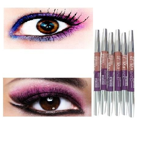 Davis Eyeliner Pensil Eyeshadow Double Colour - Davis Double Color No. 29 Ungu - 1 Pcs