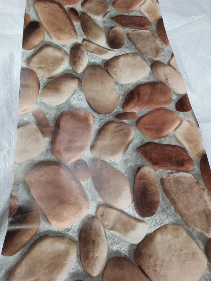Walpaper stiker dinding Motif batu kerikil