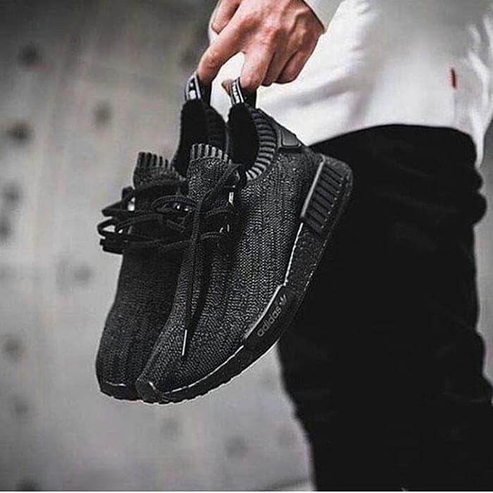 ed716a396 Adidas NMD Primeknit Pitch Black Premium Original   sepatu running - YUr1K8