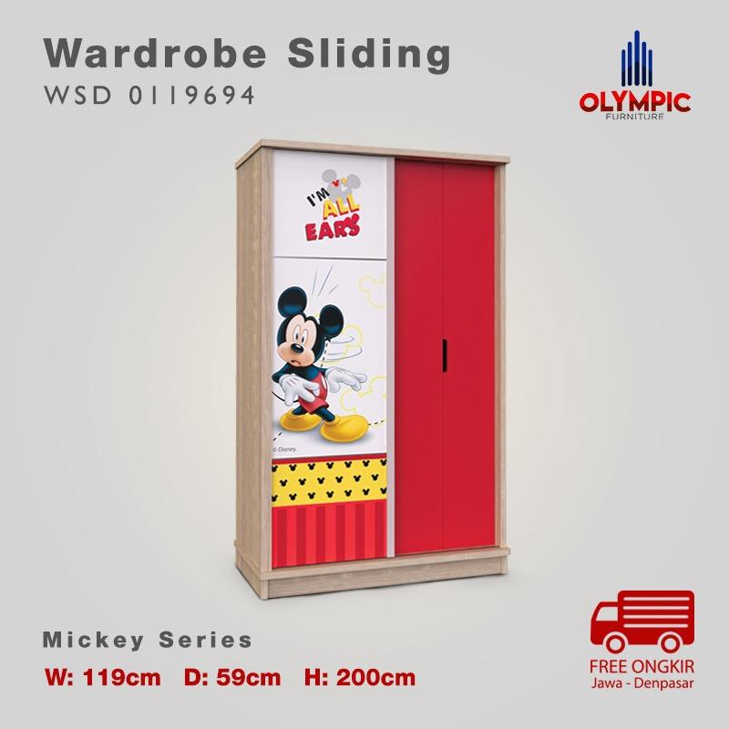 Olympic Kids Mickey Wardrobe Swing Lemari Baju Anak - WSD 0119694