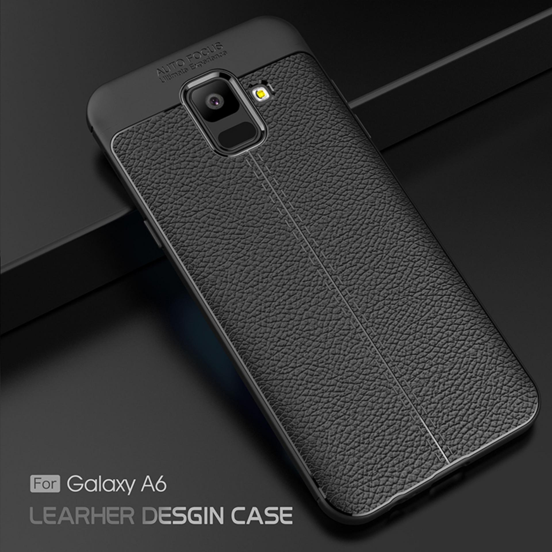 Accessories Hp Premium Ultimate Shockproof Leather Case For Samsung Galaxy A6 2018 - Black - 2 ...