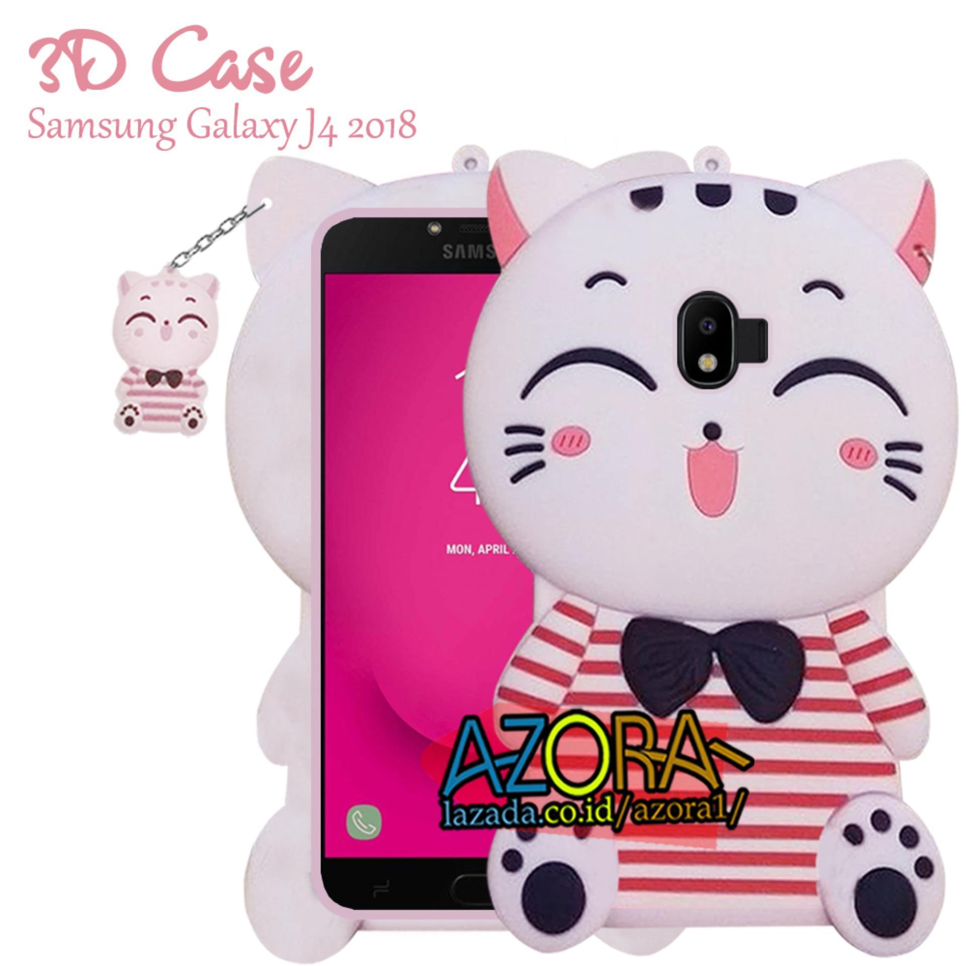 3D Case Samsung Galaxy J4 2018 Softcase 4D Karakter Boneka Hello Kitty Doraemon Lucu Character Cartoon