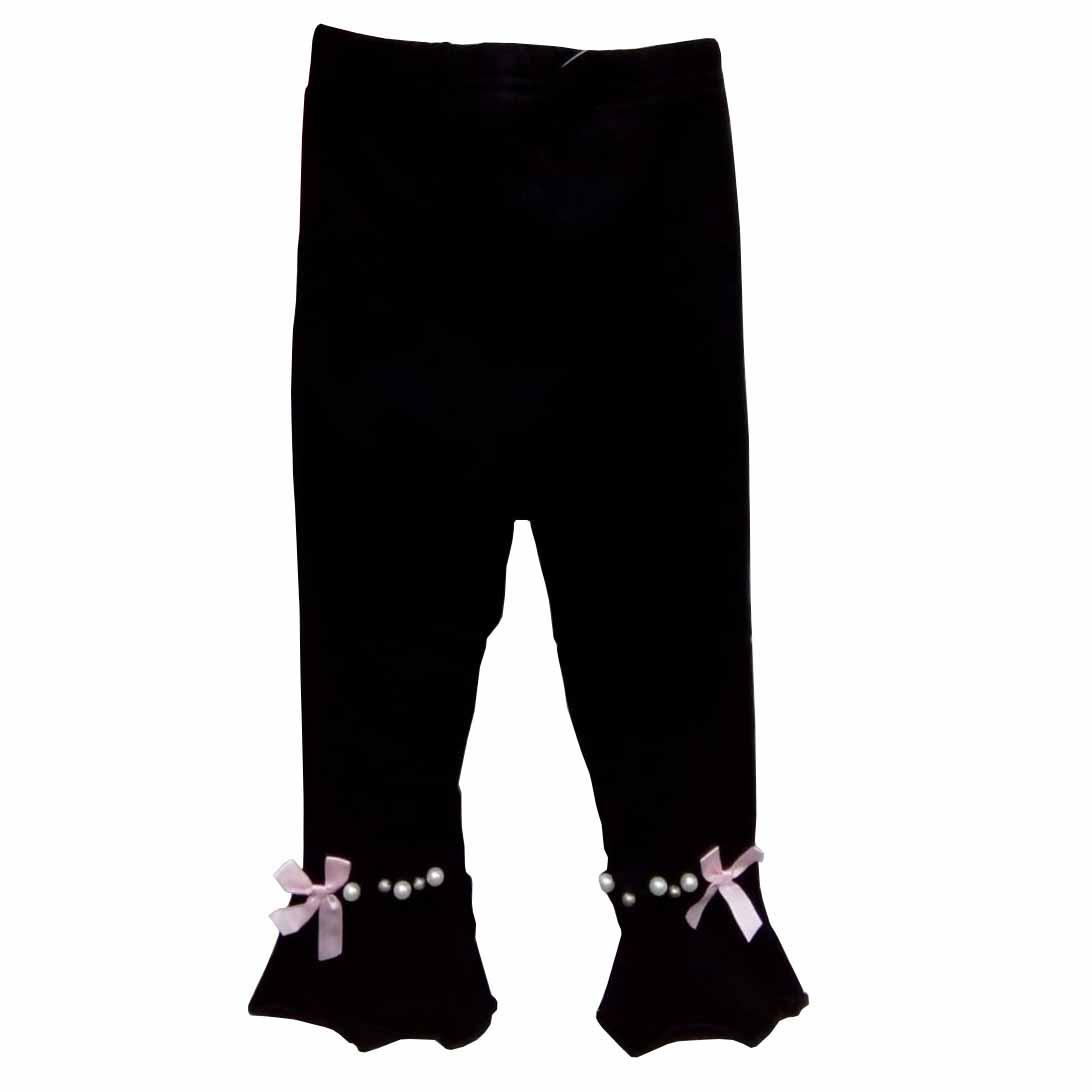 Celana Legging Import Bayi Perempuan Black (12-18 bulan)