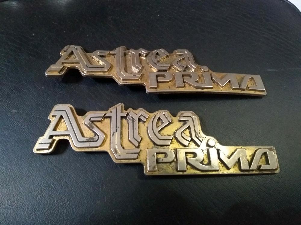 Emblem Box Aki Honda Astrea Prima Orisinil Seken