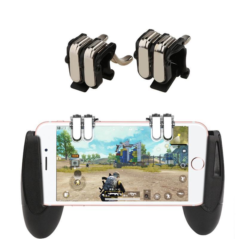 Mobile Controller Portable 4-Click Metal PUBG Gamepad L1 R1 Trigger Aim L1R1 Shooter Phone