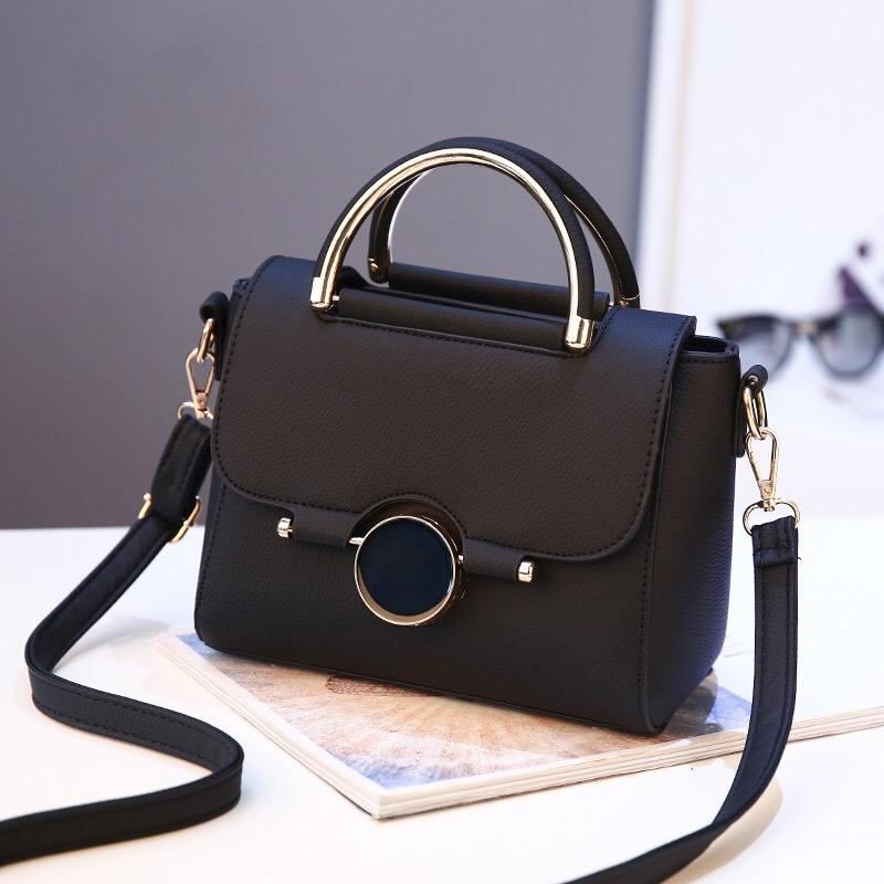 Tas Tangan Branded Wanita Kulit Import Fashion - High Quality PU Leather  Korean Elegant Bag Style 0ef89bb56b