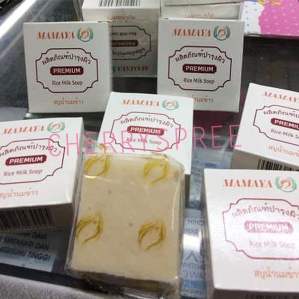 Detail Gambar Paket 2pcs Sabun Beras Mamaya Premium Rice Soap Bahan Alami BPOM Efektif Membersihkan Mencerahkan Kulit Muka Wajah Badan - 60gr Terkini