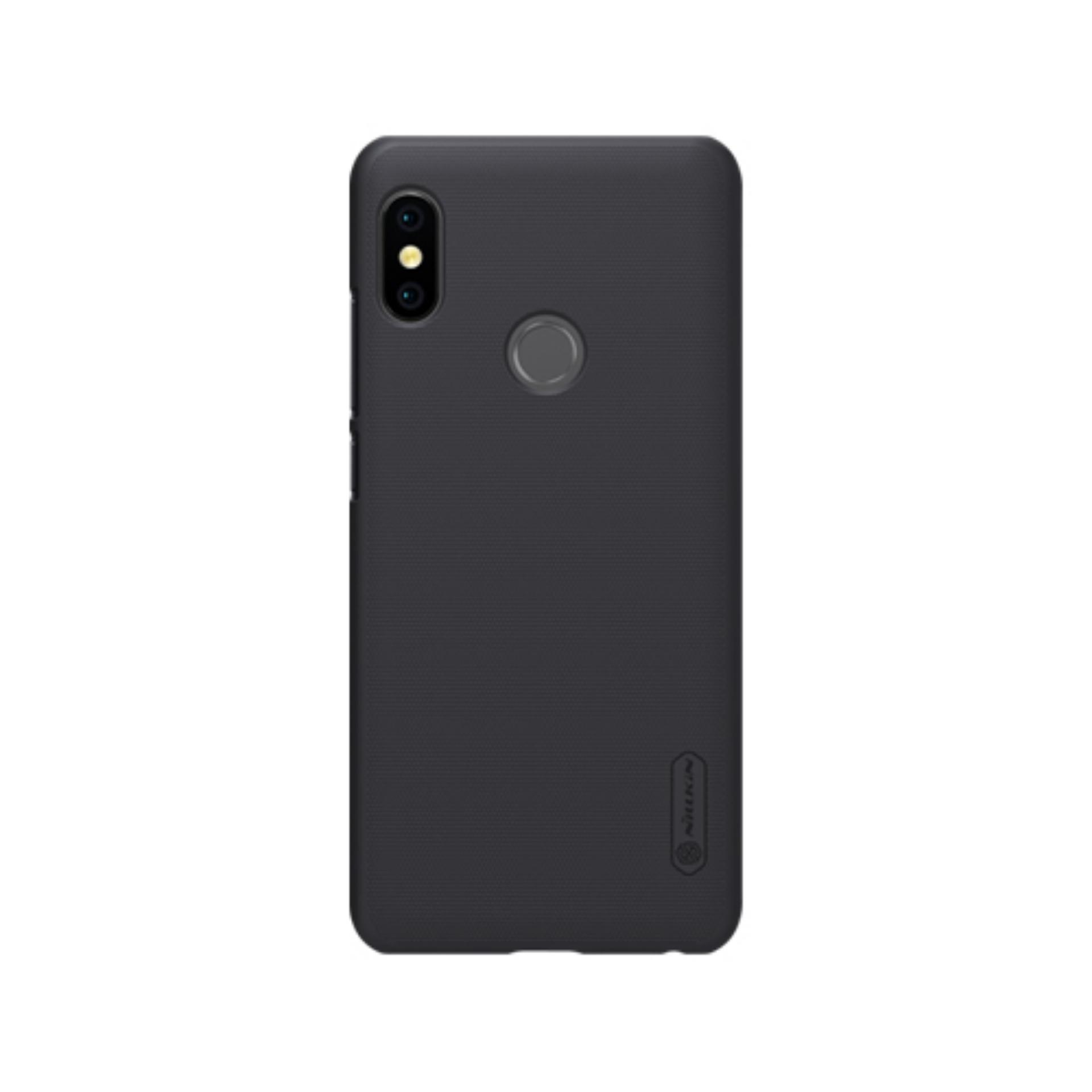 Nillkin ORIGINAL Super Frosted Shield Xiaomi Redmi Note 5 Pro - Black/Hitam Hardcase Backcase Backcover Case HP Casing Handphone