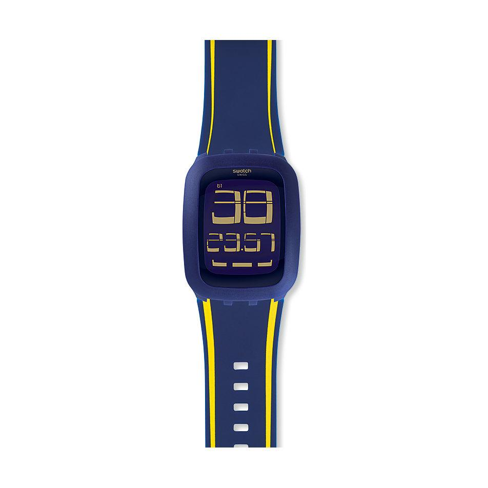 Swatch Jam Tangan Pria Bening Biru Rubber Suol700 Daftar Original 100  Suts401 Sistem Blue Black Ampamp Surn106