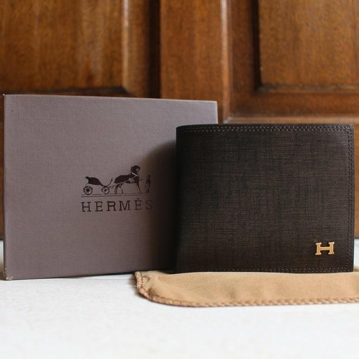 DOMPET KULIT PRIA TIDUR IMPORT BRANDED  HERMES 318C COFFEE