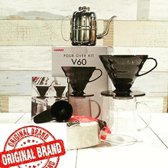 Paket Hario Pour Over Kit+Paper Filter V60 VCF-01+Kettle 540 ml