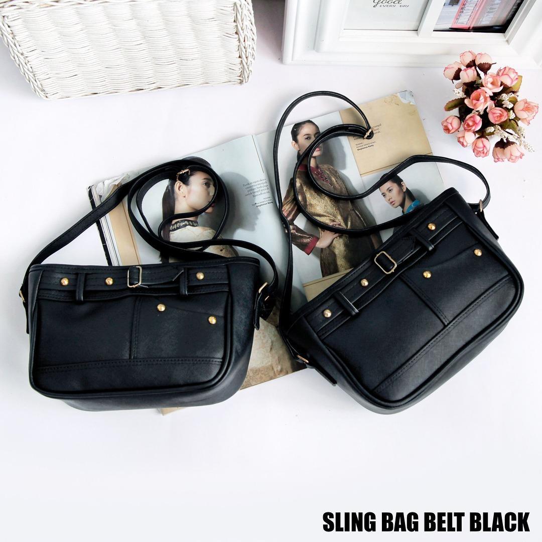 Fitur Tas Wanita Sling Bag Belt Black Dan Harga Terbaru - Info Harga ... 6bbf5eeffa