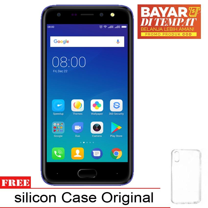 Jual Evercoss U50A Max Kingkong Glass 2Gb 16Gb Biru Gratis Silicon Case