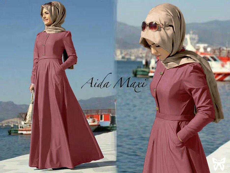 atasan wanita syari maxi ayra / long dress kaftan premium / hijab gamis muslim / fashion muslimah / dress maxi (daai) ss – maroon