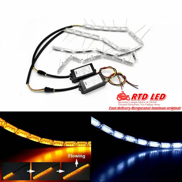 Drl led Crystal Running sein Lampu Alis Crystal A3 Premium Quality Ori