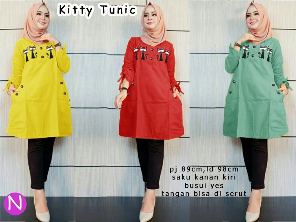J C Tunik Kitty   Tunik Muslim   Baju Tunik   Atasan Tunik   Atasan Muslim   b4a9dec8f6