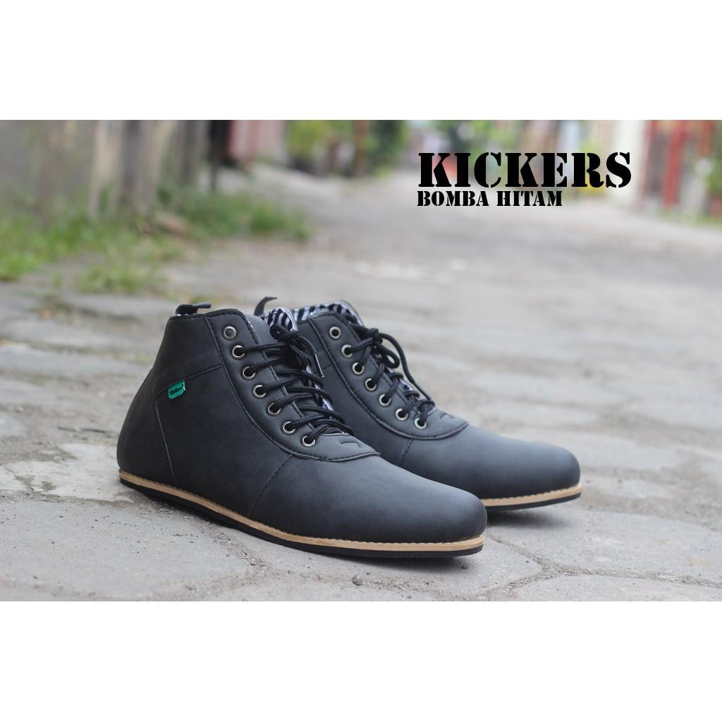 Sepatu Kickers Casual Bomba Hitam