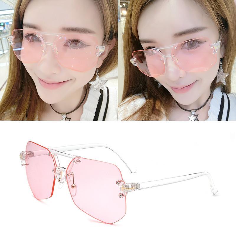Kacamata hitam wanita pasang Model artis kacamata wajah bulat Gaya Korea  Retro merah kacamata hitam wanita c126094b9c