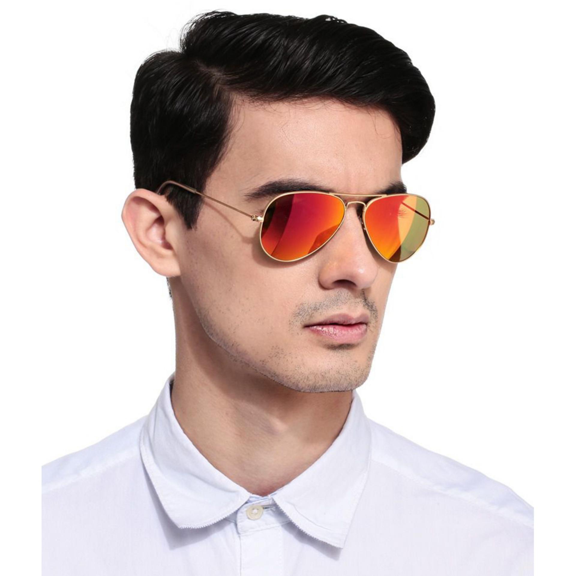 ID Sunglass - Kacamata Aviator Pria Wanita - Stainless Silver - Lensa  Coklat . 67e487bbdc