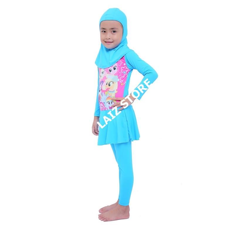 laiz baju renang anak muslimah perempuan usia sd