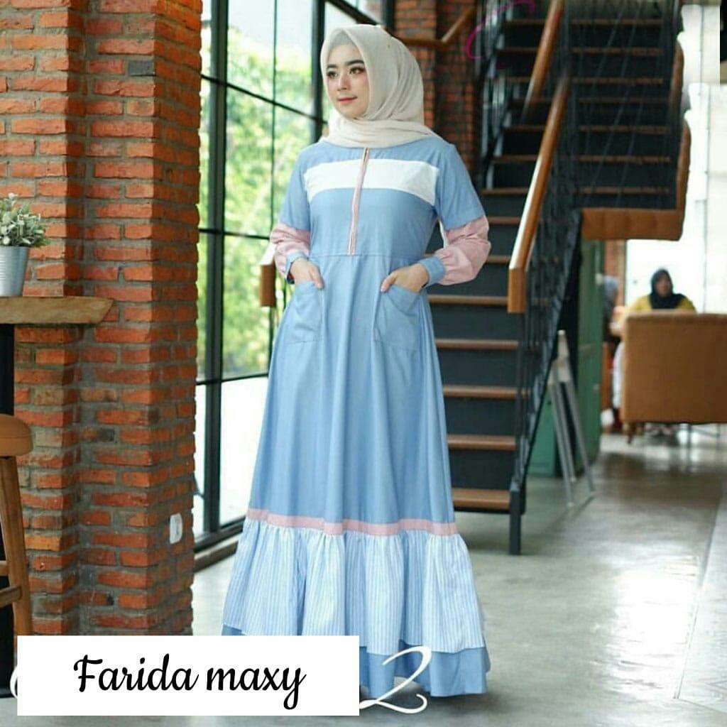 J&C IJ Farida Maxy / Dress panjang wanita / Gamis / Fashion Muslimah