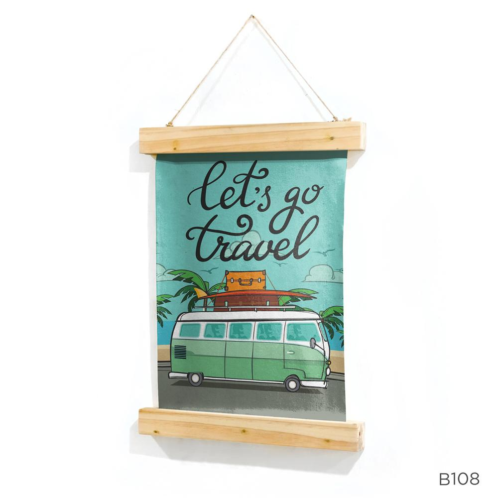 Beli Poster Kanvas Kayu Wall Decor Canvas Hiasan Dinding Quote 30X40Cm B108 Cicil