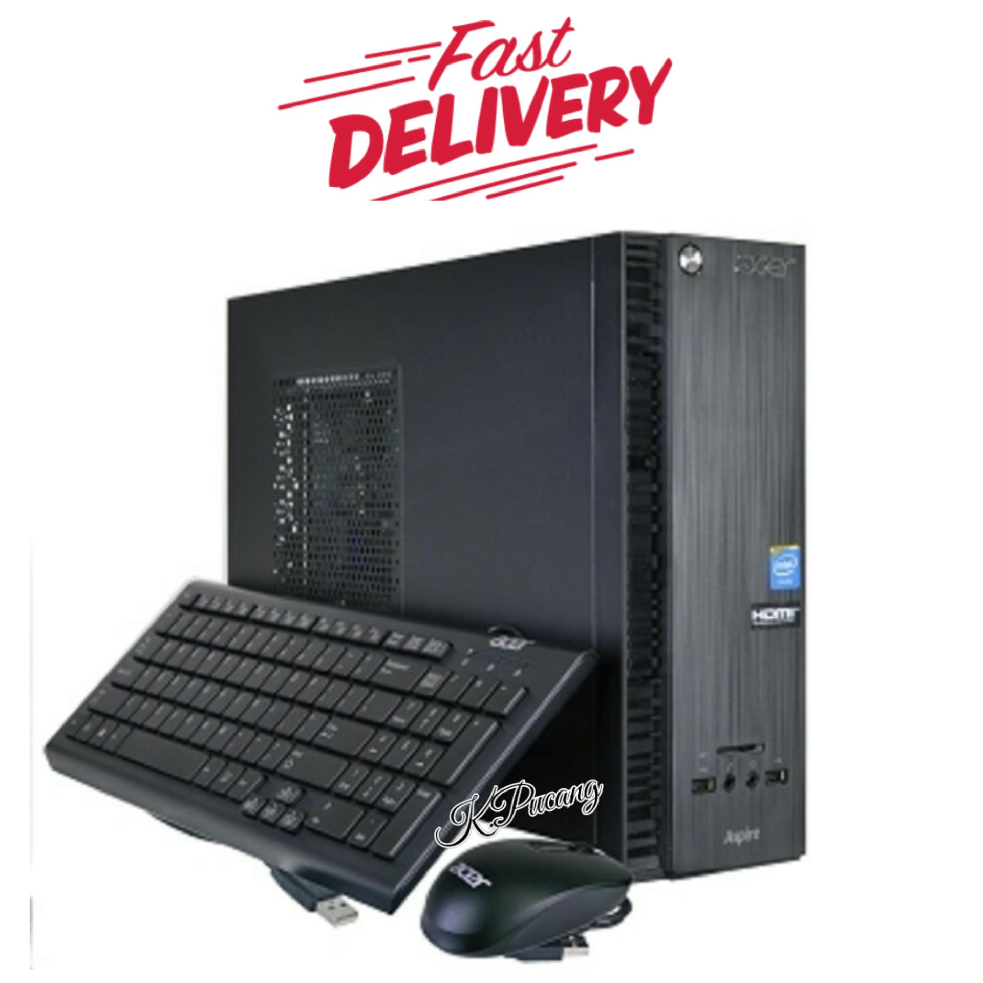 Pc Built Up Acer Aspire Xc 704G Intel Celeron Cpu N3050 4Gb Ram 500Gb Hdd Windows 10 Home Black Free Asuransi Paket Asli