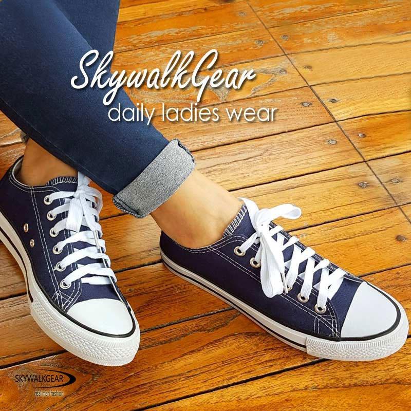 Harga Skywalkgear Comfy Women Sepatu Sneakers Wanita 209 D Blue Fullset Murah