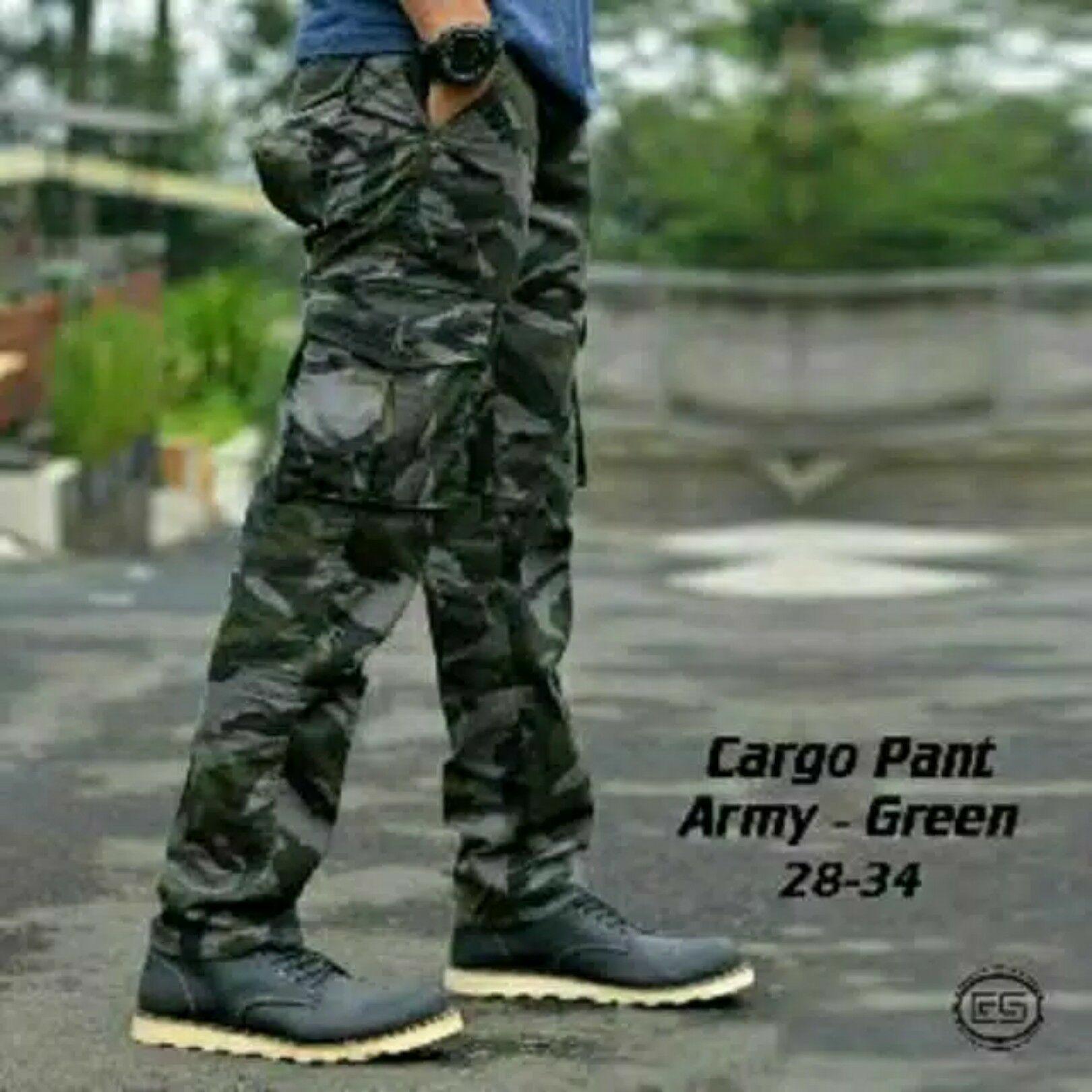 Celana panjang cargo loreng army / celana cargo tentara