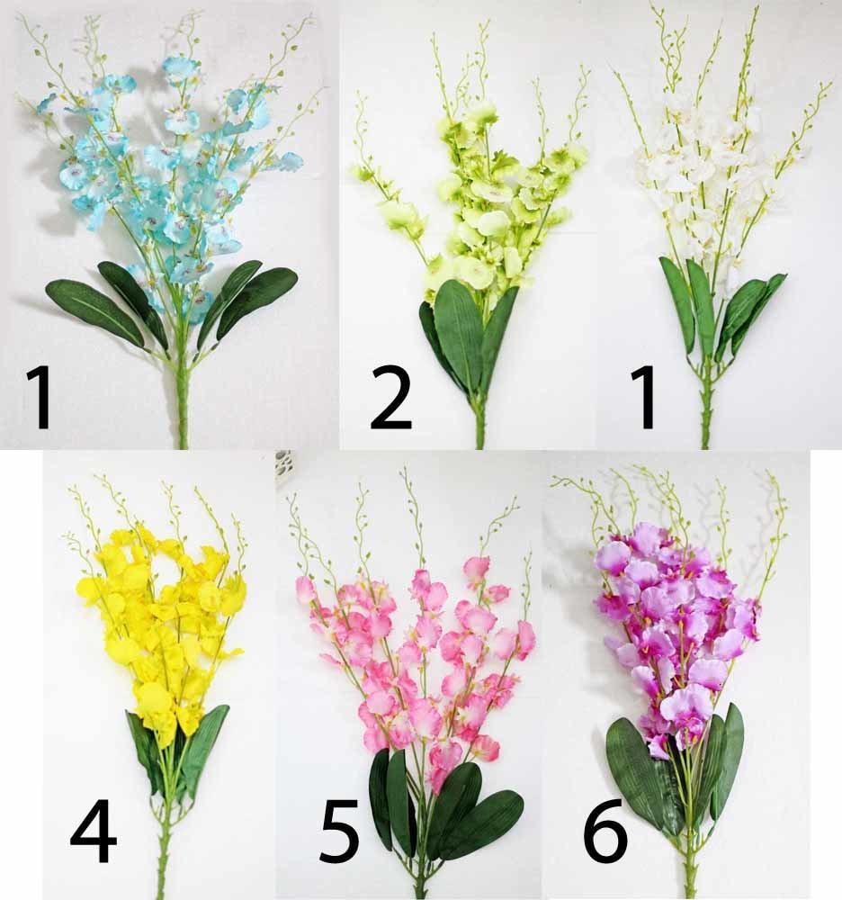 bunga plastik hias artificial golden shower shabby pot dinding 3 - 2