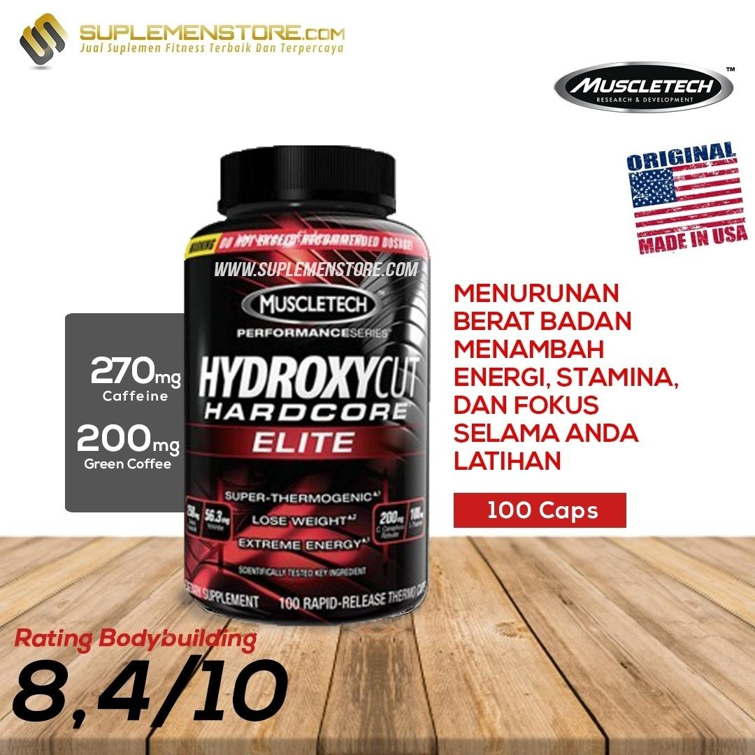 Beli Muscletech Hydroxycut H*rdc*r* Elite New Formula Fat Burner 100 Caps Muscletech Asli