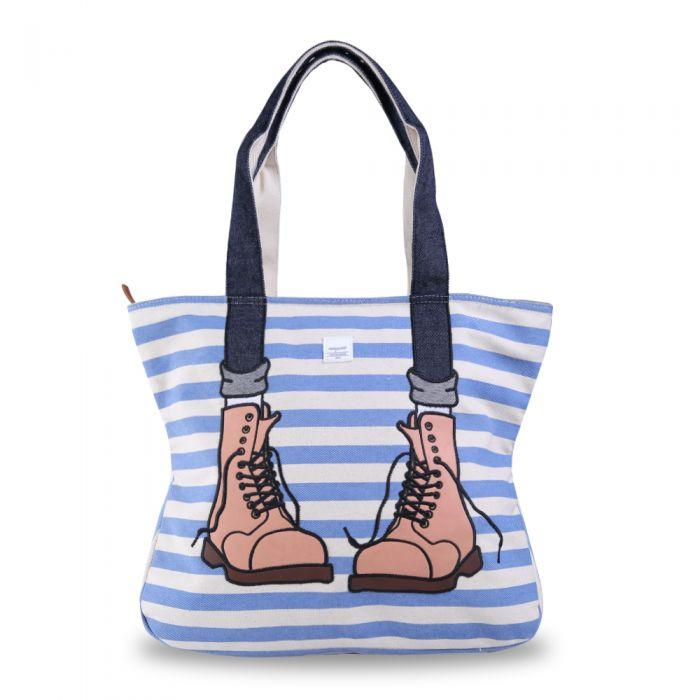 Exsport Didiera Patch Tote Bag - Blue