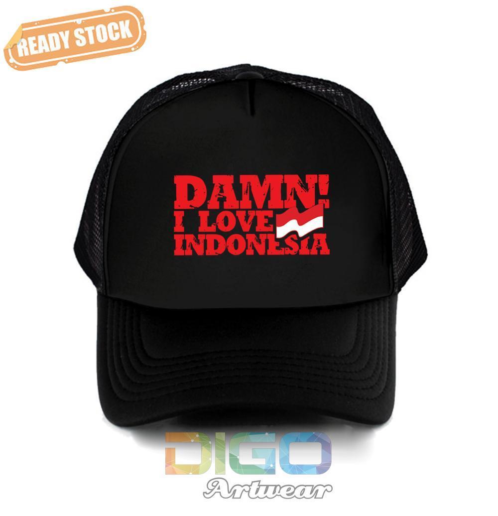 Topi Damn I Love Indonesia Trucker - Hat Damn Indonesia